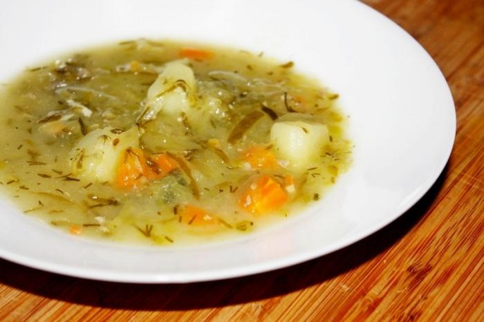 Суп с соленым огурцом и рисом рецепт с пошагово